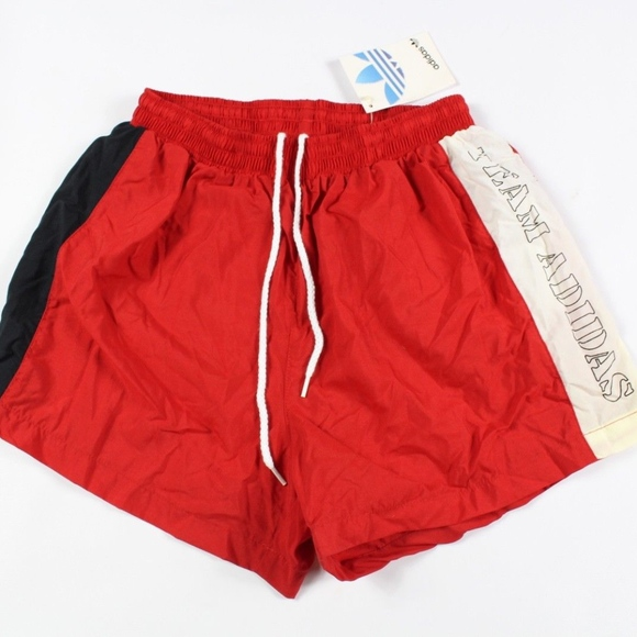 Vintage Red Nwt Team Nylon Adidas Spell Shorts M Out 0mw8nvN